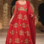 The top shades of red bridal dresses on ramps this year